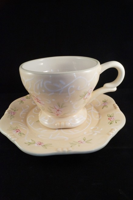 Cup And Saucer Porcelain Duilioriccione